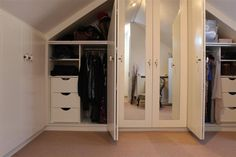 dormer bedroom storage | Bedroom Elegance | Attic Design | Attic Dormer Converted Bedrooms ...