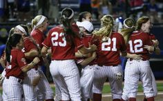 Alabama survives 7th inning scare, moves within one win of WCWS title series. OKLAHOMA CITY -- Jaclyn Traina almost made it boring.  Through six innings, Alabama's ace simply gave Kentucky no shot to make it interesting Friday night. Then came the seventh and the Alabama crowd nearly had a heart attack.   Kentucky loaded the bases with no outs before Alabama recovered to salvage the 2-0 win. It is now a win away from the championship series.