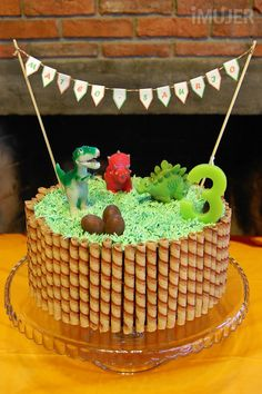 Ideas para decorar tortas infantiles - El Gran Chef Dinosaur Birthday Cakes, 3rd Birthday Cakes, Dinosaur Party, 1st Boy Birthday, Boy Birthday Parties, Dino Cake, Party Cakes, Cake Decorating, Ideas Para