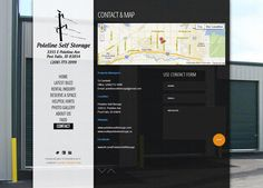 Contact Page for Poleline Self Storage - Design by Cassel Promotions & Signs.