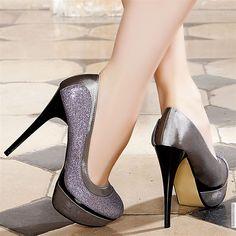 Modatoi Gray Leather Heels