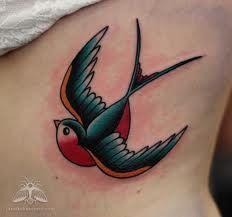 Swallow tattoo, old school