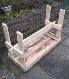 IMAG1333 600x682 Pallet Foldable Table in pallet furniture  with Table pallet Kids Garden Furniture