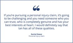 Personal injury cases are some of the most complex, so trusting that your solicitor is acting with your best interests at heart, is difficult to do.  We really appreciate such fantastic feedback from clients like Rachel! #personalinjury #injuryclaims #solicitors #lawfirm #leicester To get in touch with a specialist solicitor about any legal issue, visit www.braybray.co.uk