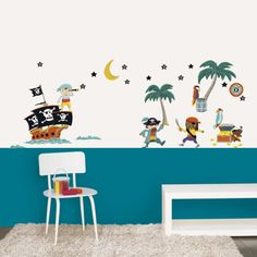 Pirates Removable Wall Stickers Wall Decals for Kids Rooms