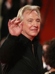 """Alan Rickman at the Venice Film Festival where they premiered """"A Promise"""" 2013"""