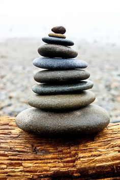 In Balance, Cairnes, Stacked Rocks on Washington Beach- 8 x 10 Fine Art Photography Print- Peace, Zen, Calm on Etsy, $25.00