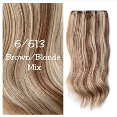 Highlighted Hair Extensions, Hair Extensions Uk, Brown To Blonde, Light Blonde, Mixed Hair, Bleach Blonde, Hair A, Remy Human Hair, Blonde Highlights