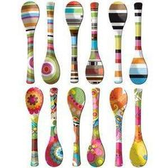 Sending out some funky colorful Monday spoons #spoonie