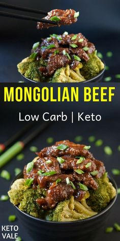 Diet Recipes Low Carb Mongolian Beef Recipe for Keto Diet - Mongolian beef – a very mysterious recipe that came to us from China. You've probably seen it in Asian restaurants especially Chinese takeaways. Here's how to make it keto-friendly. Healthy Diet Recipes, Healthy Meal Prep, Ketogenic Recipes, Keto Snacks, Keto Diet Meals, Vegetarian Meal, Simple Recipes, Dairy Free Keto Recipes, Healthy Food
