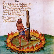 German Peasants' War The burning of Little Jack (Jacklein) Rohrbach, a leader of the peasants during the war, in Neckargartach. Creepy History, Prince Of Orange, Medieval Paintings, Demonology, All In One App, Most Popular Memes, Classical Art, Chinese Culture, Middle Ages