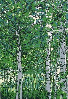 A personal favorite from my Etsy shop https://www.etsy.com/listing/271962838/aspens-in-spring-original-linocut-print