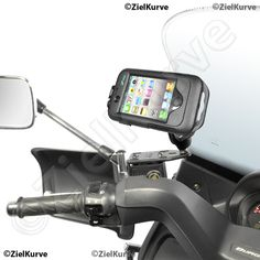 Roller Scooter Motorrad Halterungen Smartphone Navi zielkurve-iPhone 4 4S Halterung Bremsflüssigkeitsbehälter für Roller mit wetterfestem Hardcase für iPhone 4 & 4S