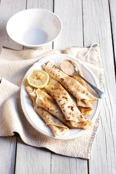 Lemon Sugar Pancakes or Crepes Brunch Recipes, Wine Recipes, Sweet Recipes, Breakfast Recipes, Crepes And Waffles, English Food, I Love Food, The Best, Smoothies