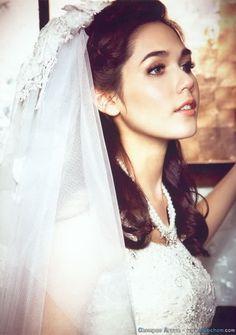 Picture of Araya A Hargate Thai Brides, Chompoo Araya, Thai Fashion, Style Icons, One Shoulder Wedding Dress, Hair Makeup, Wattpad, Gowns, Actresses