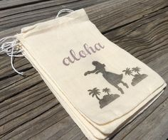 10 Hawaiian Favor Bags Aloha Hula Favors Luau Party