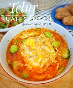 Resep telur santan © 2020 Instagram/@byviszaj ; Instagram/@iaalamsyah79 Egg Recipes, Cooking Recipes, Tasty, Yummy Food, Asian Desserts, Indonesian Food, Mashed Potatoes, Food And Drink, Menu