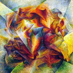 O dinamismo de um jogador de futebol, s/d Umberto Boccioni ( Itália, 1882-1916 ) óleo sobre tela