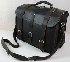 Vintage Handmade Large Genuine Crazy Horse Leather Backpack Messenger Traveling Bag - Duffle