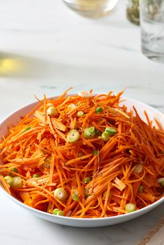 Super easy to throw together for quick meals or hotdog picnics! |Recipe: Tangy Carrot Slaw — Quick and Easy Weeknight Sides
