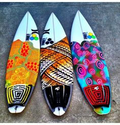 Custom board art, Love the grips on the far left and far right, loving the design of the middle board though.