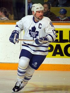 Wendel Clark grew up watching this man. Hockey Games, Ice Hockey, Hockey Mom, Nfl Highlights, Maple Leafs Hockey, Nhl Jerseys, Sport Icon, Sports Figures, National Hockey League