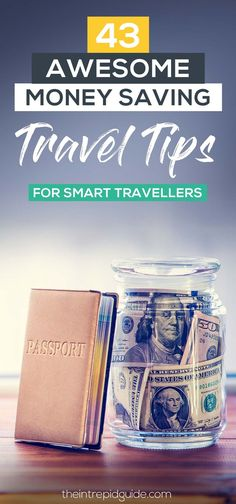 43 Awesome Money Saving Travel Tips for Smart Travellers. Make your money go further and travel more with these easy tips! Travel Money, Budget Travel, Travel Fund, Usa Travel, Solo Travel, Cheap Holiday, International Travel Tips, Travel Advice, Travel Hacks