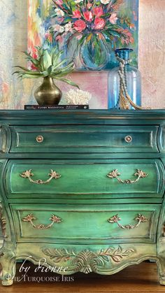Funky Painted Furniture, Refurbished Furniture, Paint Furniture, Repurposed Furniture, Furniture Makeover, Furniture Design, Fall Home Decor, Diy Painting, Decoration