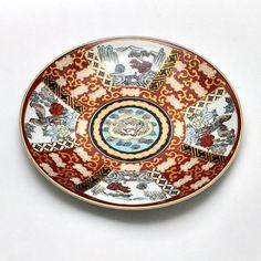 Epiag Royal Czech Vintage Plate 22k Gold Rim Blue Ring 7 3