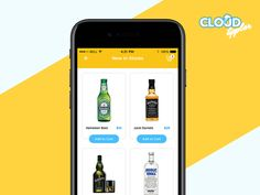 Clean and Nice Listing #UI #design for your favourite drinks!  #Capermint #Services