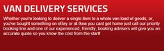 Van Delivery Services | 1st Choice by BYMV