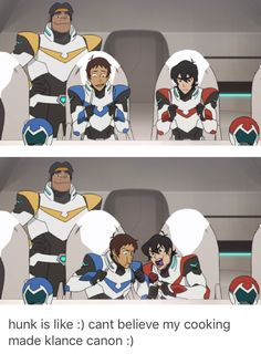 Hunk's cooking made klance canon