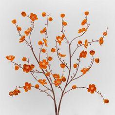 One of my favorite discoveries at WorldMarket.com: Orange Velvet Plum Blossoms, Set of 2
