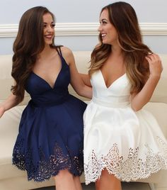 short homecoming dress, 2017 homecoming dress, white short homecoming dress, navy blue short homecoming dress, party dress cocktail dress