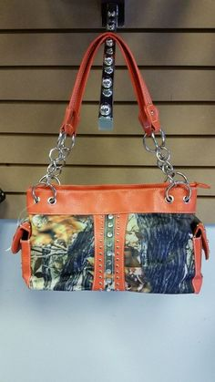 Camouflage purse - Camo with Hunter Orange Trim - NEW WITH TAGS - SALE #Unbranded #ShoulderBag