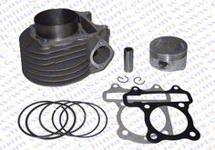58.50$  Buy here - http://alii16.worldwells.pw/go.php?t=746771940 - Performance GY6 63mm Cylinder Piston Ring Kit (Big bore Kit) Change 125CC to 180CC Kazuma Jonway ATV Quad Scooter Buggy 58.50$