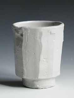 Catherine White's White Faceted Teacup