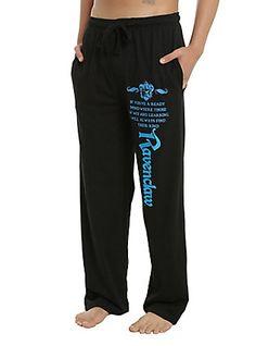 Harry Potter Ravenclaw Foil Men's Pajama Pants, BLACK