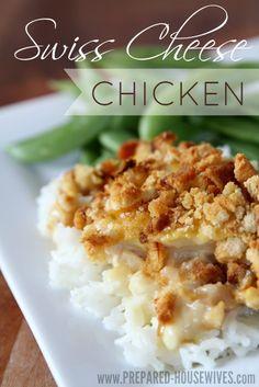 swiss cheese chicken freezer meal