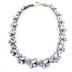 Crystal Wreath Statement Necklace