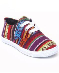 Aztec Canvas Sneaker (5-10). Get it at DrJays.com