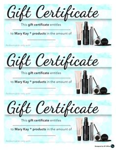 mary kay gift certificate pdf