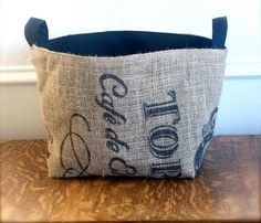 Large Coffee Sack Baskets by Brin and Nohl