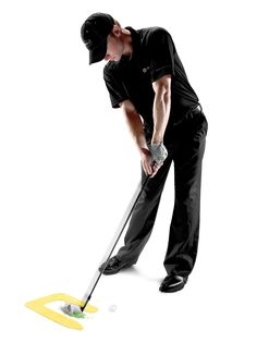Designed with durable, impact resistant material the ball first golf ball striking trainer by SKLZ improves ball striking consistency and precision Golf Swing Training Aids, Swing Trainer, Perfect Golf, Golf Accessories, Golf Tips, Golf Ball, Consistency, Trainers, Tennis