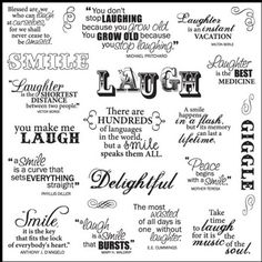 Laugh. My favorite word!