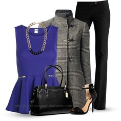 """Houndstooth Coat"" by uniqueimage on Polyvore"