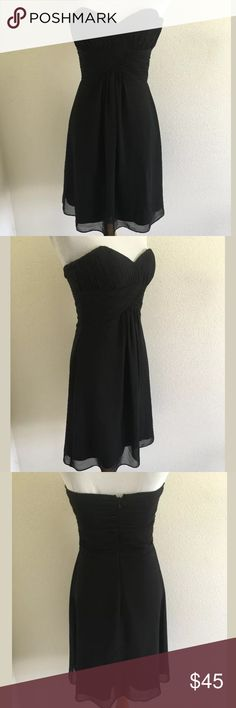 White House Black Market dress SKU: SD13443  Bust: 29 Fabric Content: 100% polyester Length Bust to Hem: 29.75 Lining Fabric: 100% polyester Stunning, elegant dress! White House Black Market Dresses Strapless