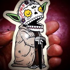 Jose Pulido - yoda graffiti sticker