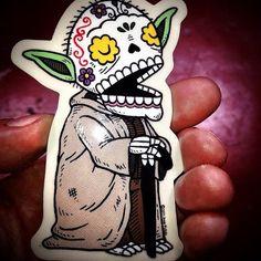 Jose Pulido - yoda graffiti sticker