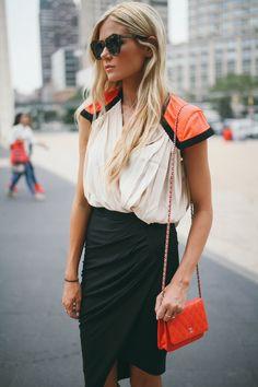 /// colorblock dress